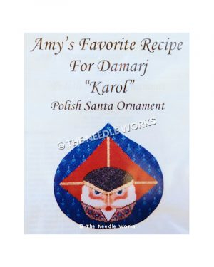 Polish Santa blue ornament with Santa face in red hat