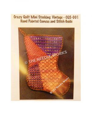 stocking with crazy quilt pattern