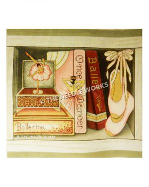 ballet books with slippers and jewelry box with dancing ballerina
