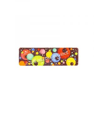 cuff bracelet with colorful dots on black