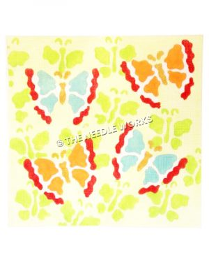 blue, yellow, orange, and red butterflies