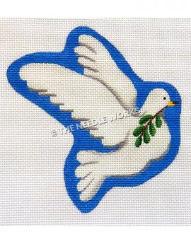 flying white dove carrying olive branch