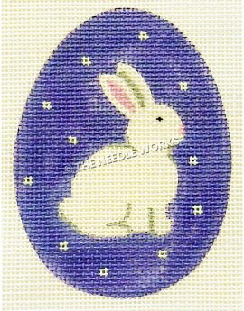 purple Easter egg with white bunny