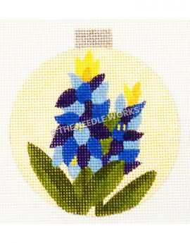 yellow ornament with bluebonnets