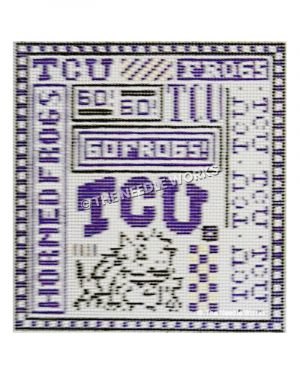 square with TCU pattern assortment including horned frog outline