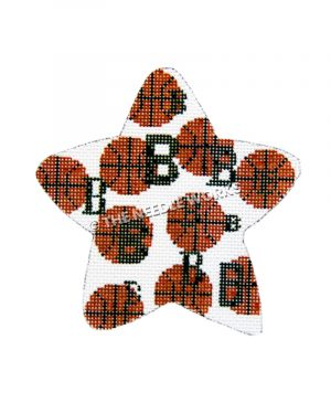 "white square with basketballs and green ""B""s"