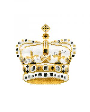 gold, black and white crown