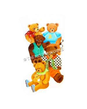 five teddy bears in variety of outfits