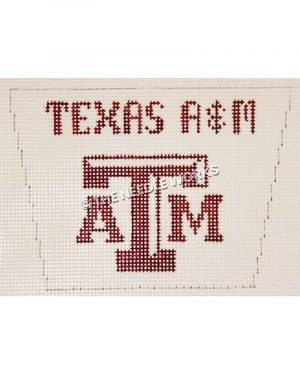 white stocking top with Texas A&M and logo in maroon