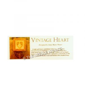 gold vintage heart with flowered decorations