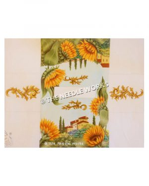 3D box cover with Tuscan landscape and sunflowers