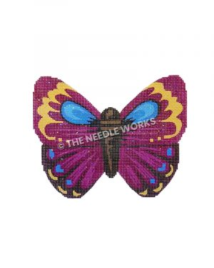 purple, blue, yellow and black butterfly