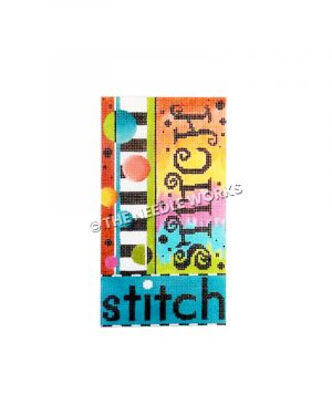 stitch written on colorful block background