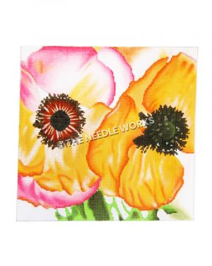 pink and orange poppies