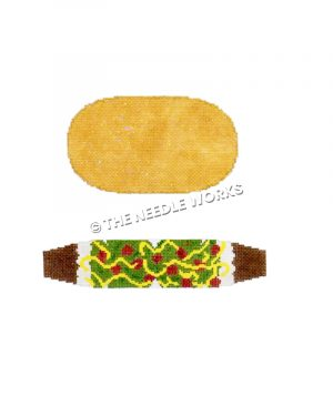 3D taco in two parts, shell and filling