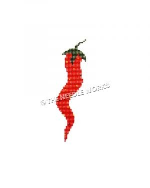 red chili pepper with yellow dots