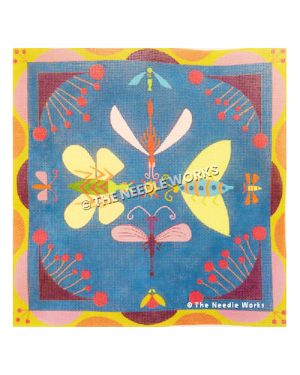 winged bugs with geometric frame