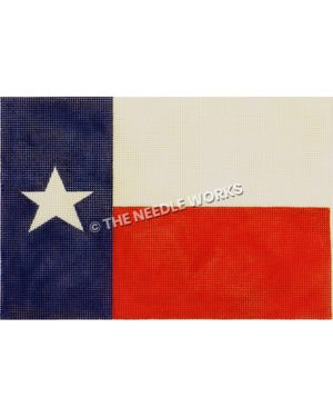 Texas flag in vibrant dark blue and bright red