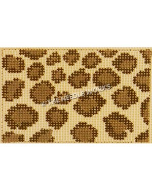 rectangle with brown and beige leopard pattern