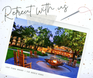 Retreat with Us postcard