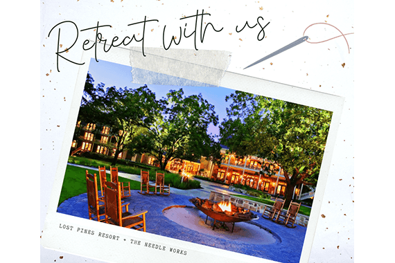 Lost Pines Resort retreat with us postcard