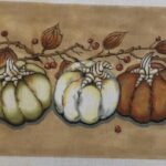 trio of pumpkins canvas