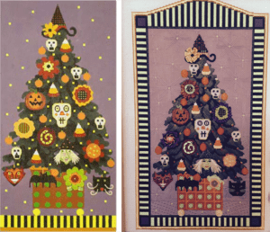 susan portra's Halloween Topiary canvas by Melissa Shirley before and after
