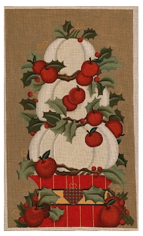 winter stacked pumpkins canvas by Melissa Shirley Designs